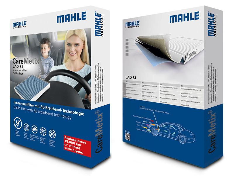 Mahle CareMetix: le filtre d'habitacle innovant avec la technologie à large bande S5